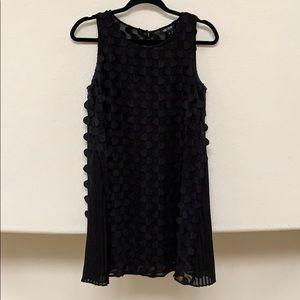 Nic + Zoe Black Detailed Mini Dress